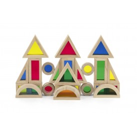 24pc Coloured Blocks
