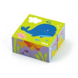 6 Sided Puzzle Blocks - Sea