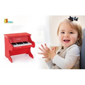 18 Key Piano - Red