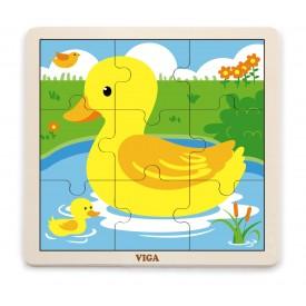 9 Piece Puzzle - Duck