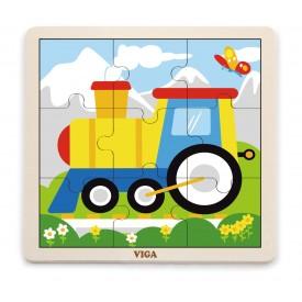 9 Piece Puzzle - Train