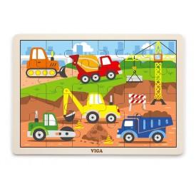 24 Piece Puzzle - Construction Vehicle