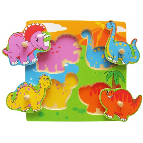 Flat Puzzle - Dinosaur