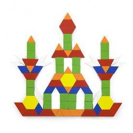 250 Wood Pattern Blocks