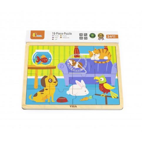 16pcs Puzzle - Pets