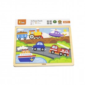 16pcs Puzzle - Transportation