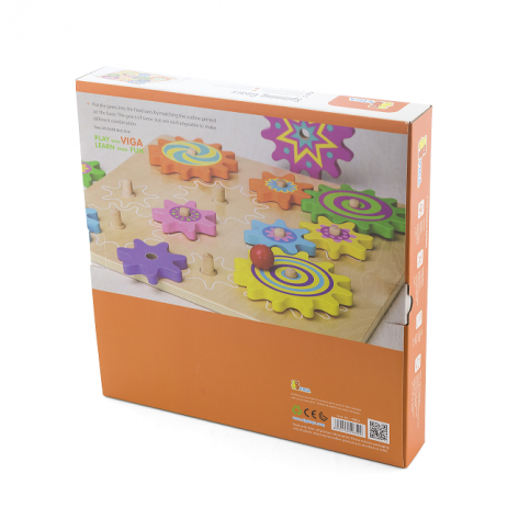 Spinning Cogs and Gears Puzzle