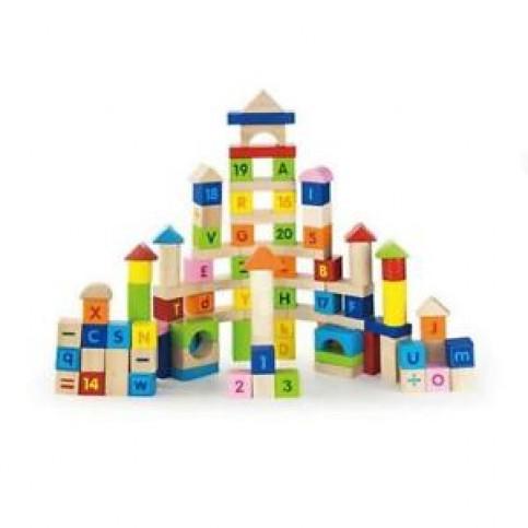 100 Piece Blocks - Alphabet & Numbers