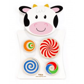 Wall Toy Cow - Turning Patterns