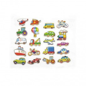20 Piece Magnetic Vehicle Set