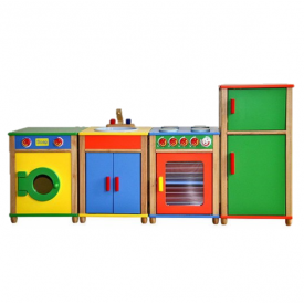 Colourful 5 Piece Kitchen Set