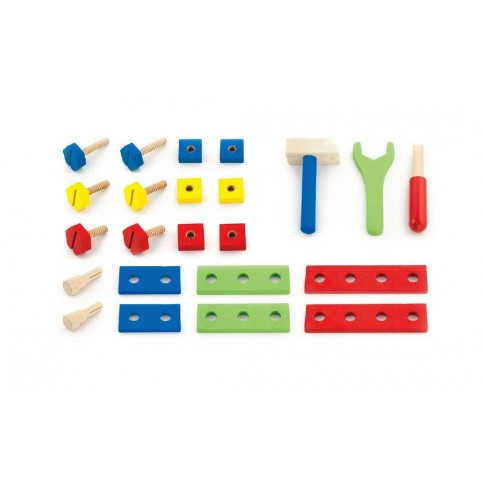 24 Piece Wooden Tool Kit